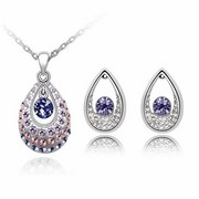 Austrian Crystal SW set Drops - Light Violet