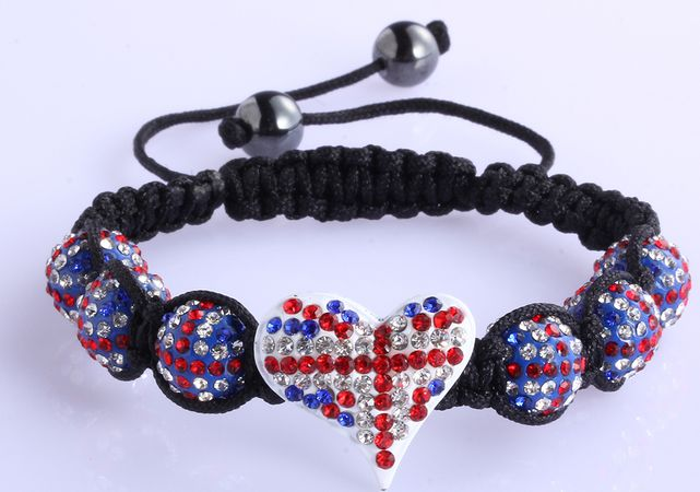 Shamballa náramok 1 Heart - UK