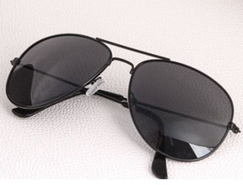 Slnečné okuliare AVIATOR - pilotky čierny kovový rám ALL Black 291205adee2