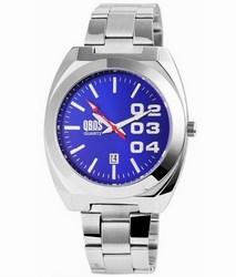 Pánske kovové hodinky QBOS strieborné Blue empty 103110d408d