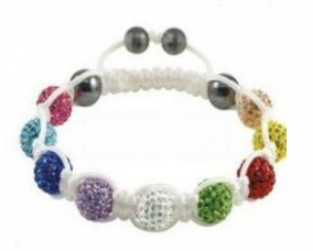 Shamballa náramok white Color