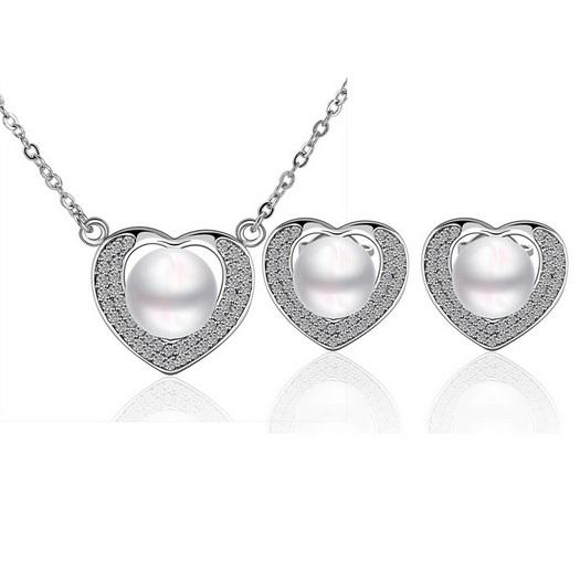 Austrian Crystal set s perlami Miriam strieborný empty b9e3fb771e3