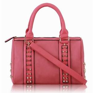 Dámska vybíjaná kabelka ružová empty f49bae9f59b