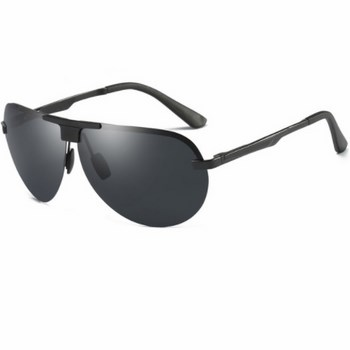 9556b7cb7 Polarizačné slnečné okuliare pilotky Wayne celé čierne empty