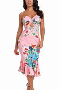 Ružové šaty s kvetinovou potlačou Elizabeth empty 7a8370a56f