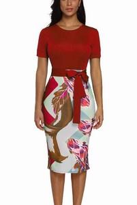 Vzorované dámske šaty Ella - červené empty 4a4c4c5cd8