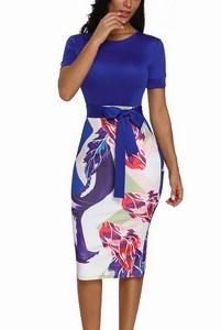 Vzorované dámske šaty Ella - modré empty 6f95044db4
