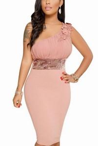 Zdobené šaty Violet - ružové empty cf84fb8d11a