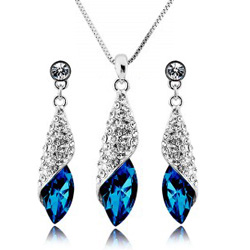 Austrian Crystal SW set Dark Blue