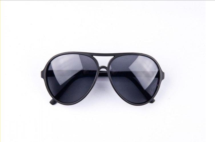 Slnečné okuliare AVIATOR - pilotky čierny plastový rám čierne sklá 32f060e15df