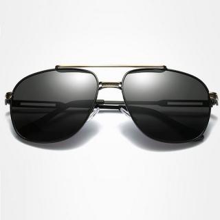 7628f5b13 Polarizačné slnečné okuliare pilotky Andree zlaté čierne empty